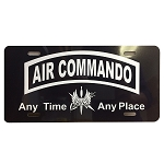 Air Commando License Plate