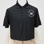 Black Textured  Sport Polo Shirt
